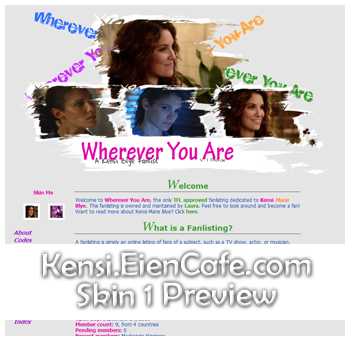 Set Skin 1: Scene from different episodes, showing her profile